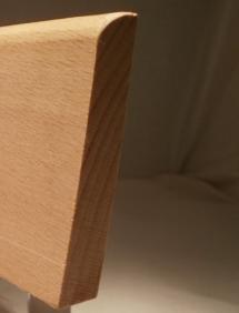 Foto von Fussleisten oder Sockelleisten aus Massivholz