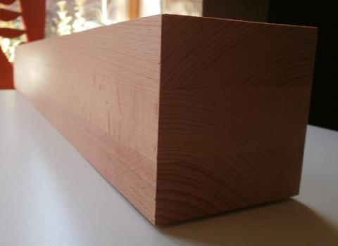 quadratisches Tischbein aus Buche 100x100mm Modell 1005