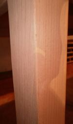 quadratisches Tischbein aus Buche 60x60mm, Modell 1005