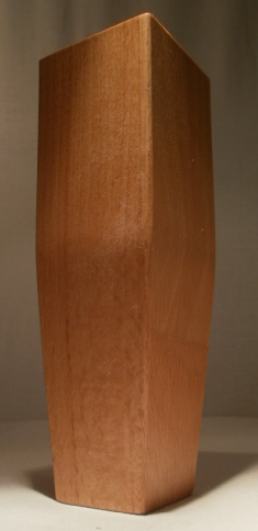 konisches Tischbein aus Buche, 50x50mm auf 30x30mm auslaufend, Modell 1050, 770mm lang
