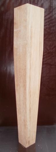 konisches Tischbein aus Eiche, 100x100mm auf 50x50mm auslaufend, Modell 1050