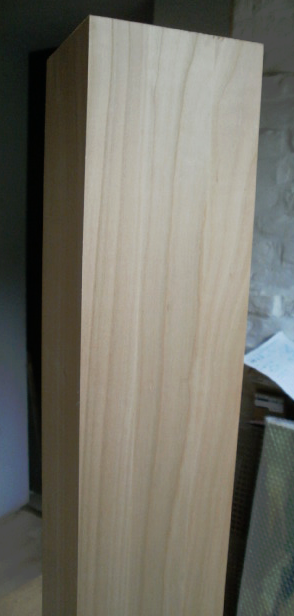 Kirschbaum-Kantholz 60x60mm, aus 2 durchgehenden Lamellen verleimt