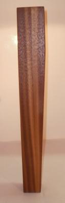 konisches Tischbein aus Nussbaum, Modell 1050, 370 mm lang, 55x55mm auf 35x35mm auslaufend