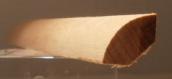 Buche-Viertelstab 14x14mm