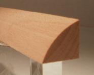 Leistenfoto Buche-Viertelstab 20x20mm