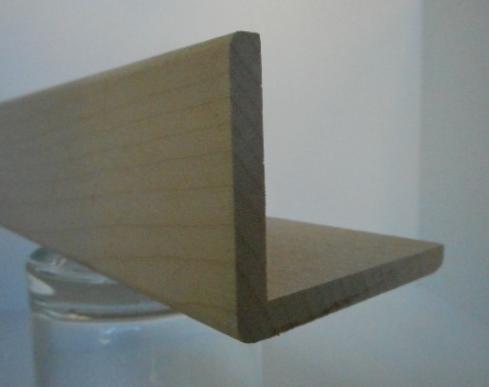 Ahorn-Winkelleiste 45x60mm, Falz 39x54mm