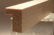 Ahorn-Bilderrahmenleiste, 15 mm breit, 20 mm hoch