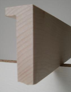 Ahorn-Bilderrahmenleiste, 20 mm breit, 50 mm hoch