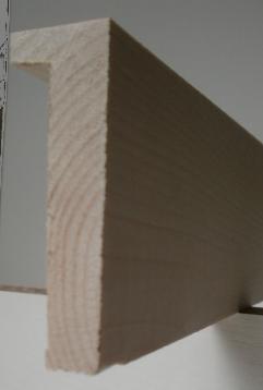 Ahorn-Bilderrahmenleiste, 20 mm breit, 60 mm hoch