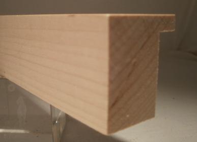 Ahorn-Bilderrahmenleiste, 30 mm breit, 35 mm hoch