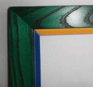 grün gebeizte Eschebilderrahmenleiste