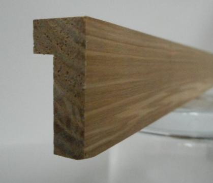 Esche-Braunkern-Bilderrahmenleiste Modell P1225-BR, 12 mm breit, 25 mm hoch