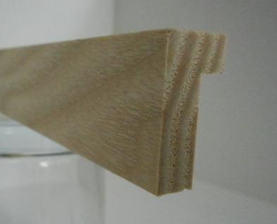 Esche-Bilderrahmenleiste Modell P1225, 12 mm breit, 25 mm hoch