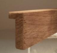 Nussbaum-Bilderrahmenleiste, 15 mm breit, 30 mm hoch