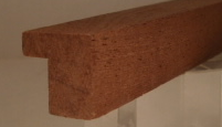 Sipo-Mahagoni--Bilderrahmenleiste, 20 mm breit, 20 mm hoch