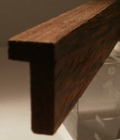 Wenge-Bilderrahmenleiste 15x30mm