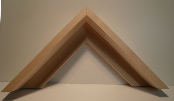 Ahorn-Schattenfugenleiste 59mm hoch, 48mm breit, Ansicht 15mm