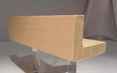 Ayous-Schattenfugenleiste 35mm hoch, 45mm breit, Ansicht 10mm