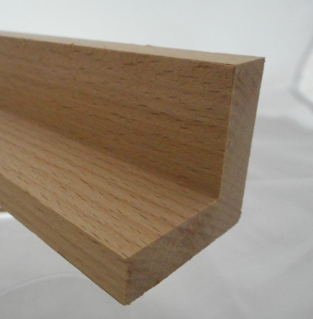 Buche Schattenfugenleiste 35mm hoch, 35mm breit, Ansicht 10mm