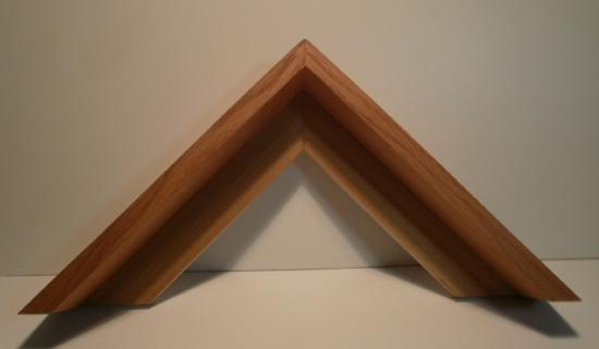 Buche Schattenfugenleiste 32mm hoch, 48mm breit, Ansicht 15mm