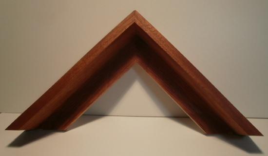 Sipo-Mahagoni Schattenfugenleiste 59mm hoch, 48mm breit, Ansicht 15mm