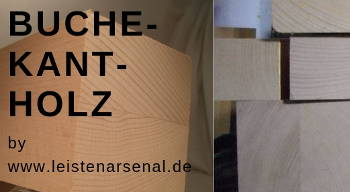 Holzleisten-Bild von Buche-Kantholz