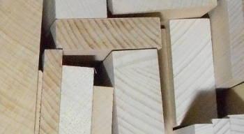 Holzleisten-Bild von Buche-Rechteckleisten