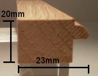Eiche-Bilderrahmenleiste Modell BI2320
