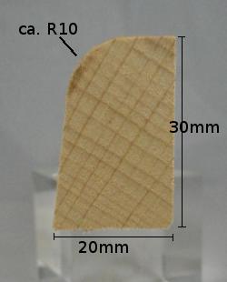 Fussleiste Modell S2030 aus Buche, 20 x 30 mm