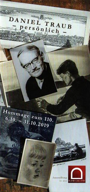 Ausstellung Daniel Traub, 110. Geburtstag in der Ruhr Gallery in Mülheim a.d. Ruhr