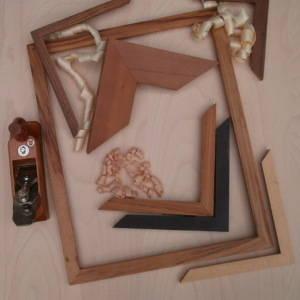 Naturholz-Bilderrahmenleisten