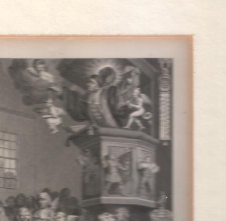 Detail vergilbter Passepartout-Ausschnitt